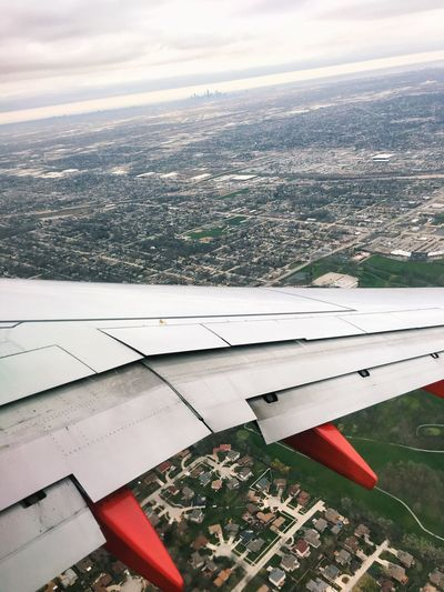 Chicago on the horizon Airplane Aerial View Landscape Aircraft Wing High Angle View Day Sky Cityscape Airplane Wing Outdoors Scenics Sky View Beautiful EyeEmBestPics EyeEm Best Shots Transportation Chicago Chicago Skyline The Great Outdoors - 2017 EyeEm Awards