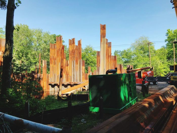 Bridge reconstruction #rust Plant Sky Tree Nature Architecture Built Structure The Architect - 2018 EyeEm Awards Day Sunlight No People Outdoors Barrier Fence Park The Architect - 2018 EyeEm Awards