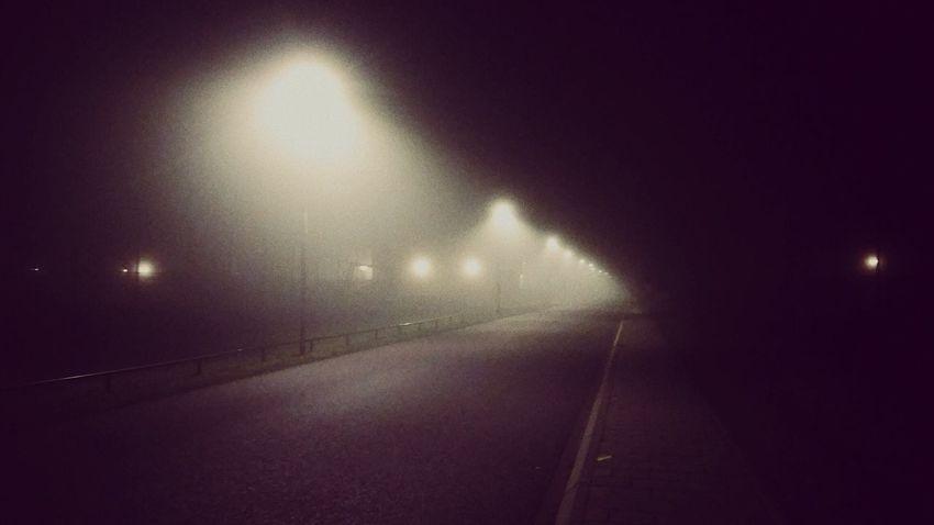 Foggy night. Night No People Outdoors