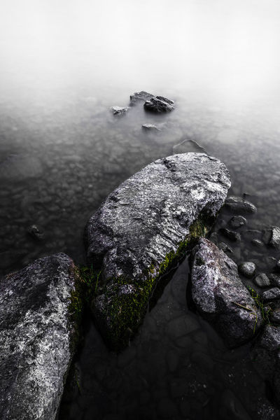 stepping stones Long Exposure Fine Art Photography Fine Art Switzerland Dark Faded Monochrome Nature High Angle View Water No People Lake Nature Day Close-up Beauty In Nature