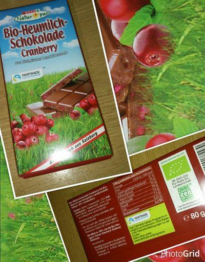 Schokolade Bio Spar Aus Biologischer Landwirtschaft Cranberry Fairtrade Süßes