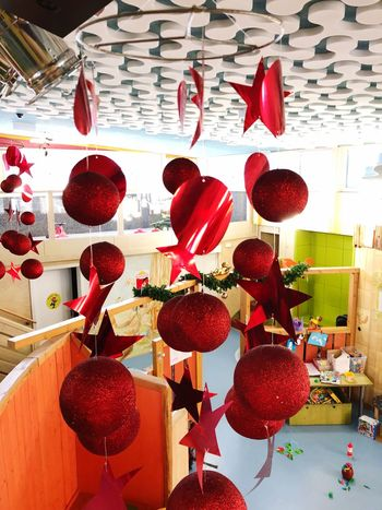 Christmas Decoration Red Indoors  No People Hanging Day Variation Close-up