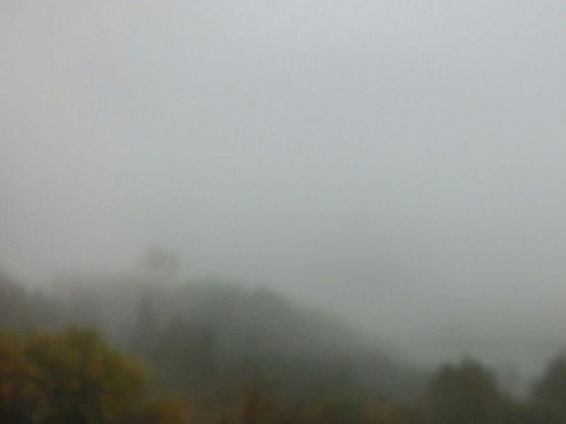 雨の旗降山 Trekking Rany Day View