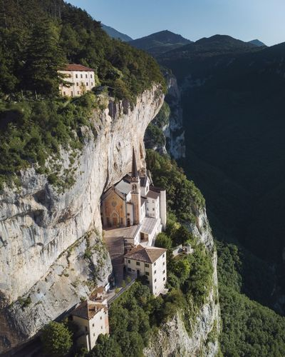 Hidden in the heart of the Italian mountains. Architecture Built Structure Building Exterior Mountain Building Plant Tree History The Past Day No People Nature High Angle View Travel Destinations Beauty In Nature