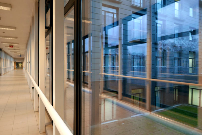 Absence Corridor Empty Glass Glass - Material Indoors  Leading Modern Narrow Open Perspective The Way Forward Transparent Window Brussels Belgium