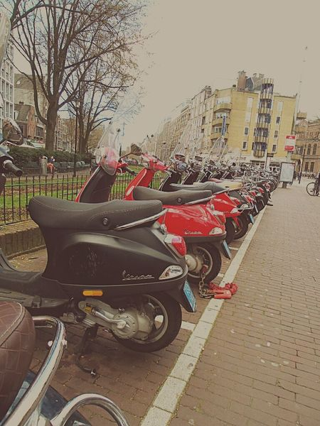 Amsterdam Amsterdamcity Scooters Leidseplein