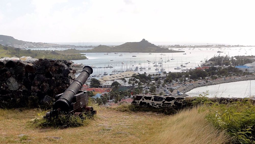 View From Above Tropical Paradise Tropical Climate Tropical Island Fortress Carribean Gun Cannon Landscapes With WhiteWall