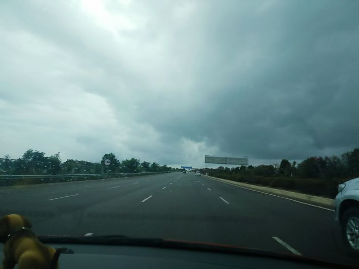 Destiny Destination Unknown Travelling Highway Running Fast Road Car Coulds And Sky Cloud Sky