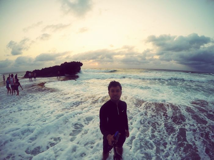 Patar Beach, Bolinao, Pangasinan 3-27-2016 (GoPro Hero Silver) First Eyeem Photo Amateurphotography EyeEm Nature Lover Eyeem Philippines Sea Sea And Sky Seawaves Waves Crashing White Waves Dark Beach Patar The Great Outdoors - 2016 EyeEm Awards