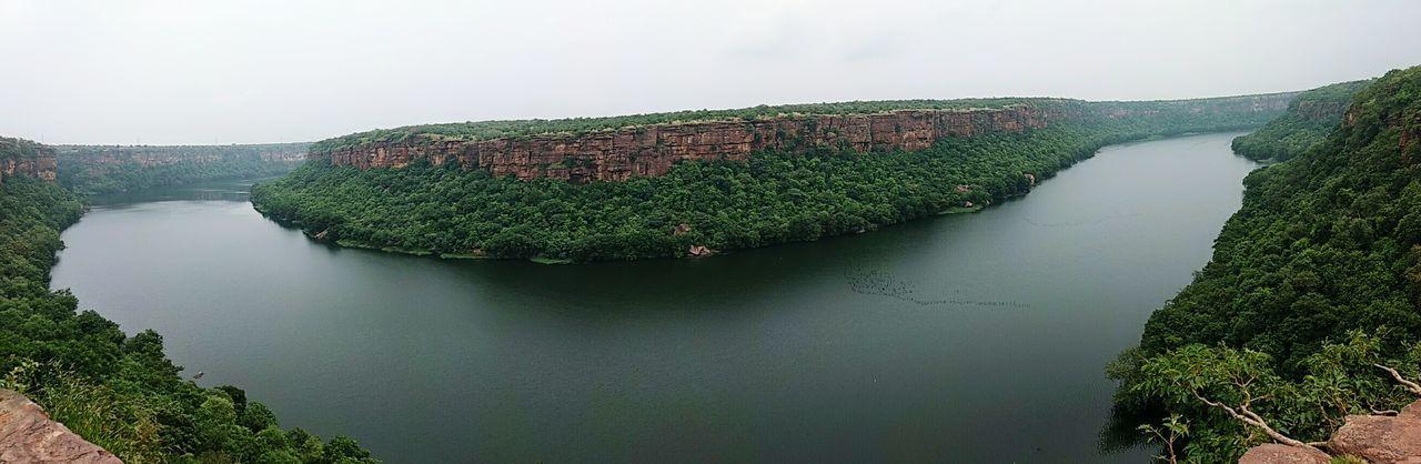 U turn of river Gorge River River View Chambal River Garadia Water Lake Tree Sky Plant Tranquil Scene Tranquility Scenics Lush - Description Horizon Over Water Rocky Mountains Shore Non-urban Scene