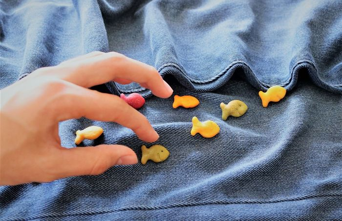 Catch a Snack Arts And Crafts Fun Funny Snack Snack Time! Swimming Art Body Part Close-up Finger Fish Hand High Angle View Holding Human Body Part Human Hand Jeans Kids Crafts Kids Having Fun One Person Sea Textile Toy Waves Waves, Ocean, Nature Visual Creativity The Still Life Photographer - 2018 EyeEm Awards The Creative - 2018 EyeEm Awards