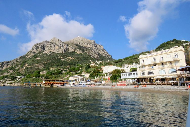 Bateau Pour Capri Boat To Capri Architecture Building Exterior Built Structure Cloud - Sky Day Harbor House Moored Mountain Nature Nautical Vessel No People Outdoors Sea Sky Town Transportation Travel Destinations Tree Water Waterfront