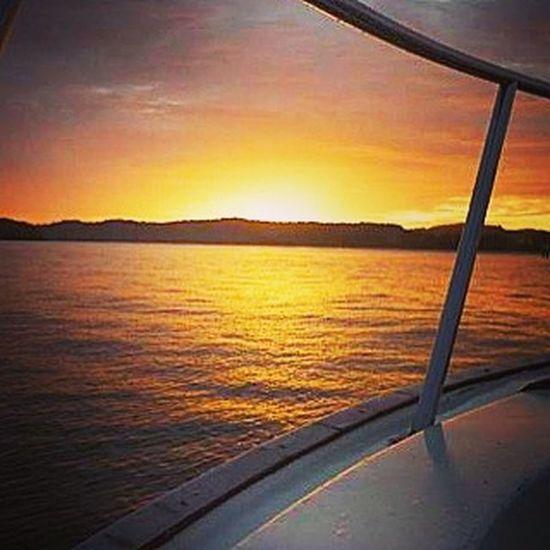 Sunsets in Phuket Colourful Orange Sunsets Beautiful Yacht Scenery Vacation Holidays Travel Thailand Resorts Phuket