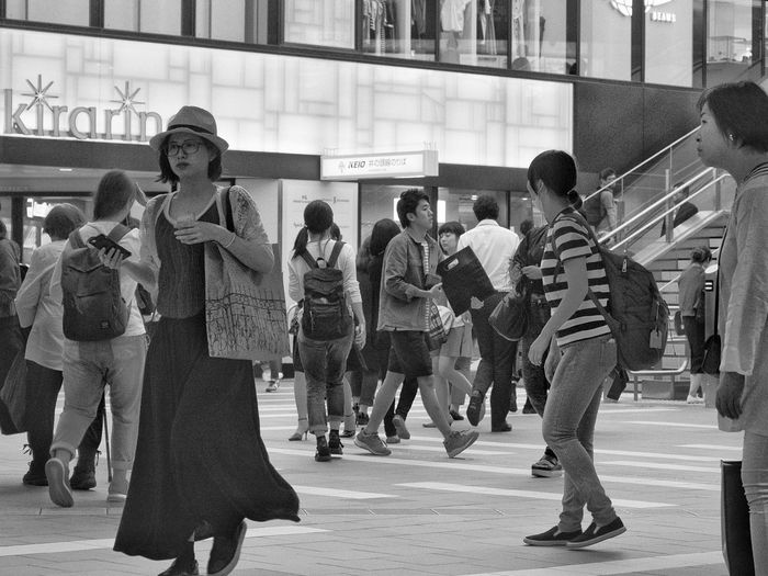 Railroad Station Togetherness City Life Person Transportation Snapshot Pedestrian Walkway Night Nightphotography Streetphotography People at Kichijoji 吉祥寺 , Tokyo Japan
