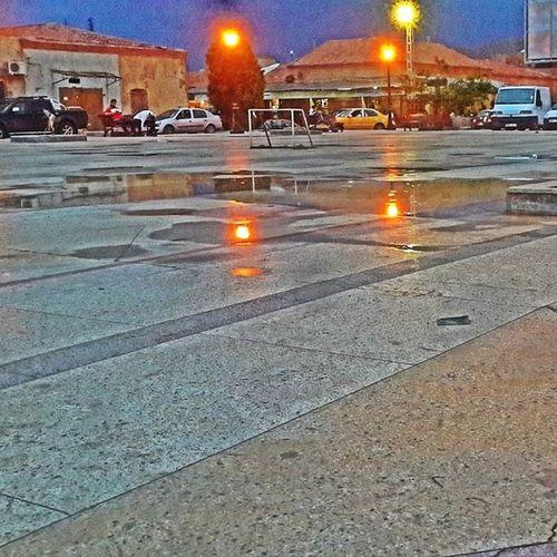 Ainsefra Downtown Rain Algeria plasita