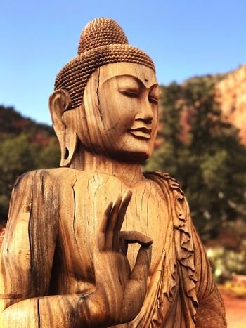 Peace Park Statue Human Representation Focus On Foreground Clear Sky Outdoors Close-up Spirituality Day Sedona Peacepark Religion