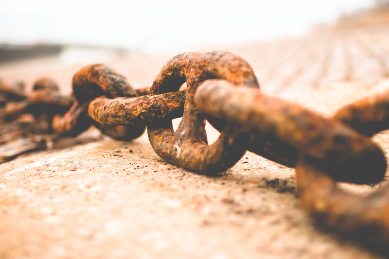 Chain Close-up Detail Focus On Foreground Large Group Of Objects Metal Metallic No People Old Part Of Rusty Selective Focus Still Life Strength Temptation Textured