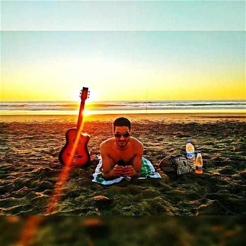 Relaxing Enjoying Life That's Me Guitar First Eyeem Photo