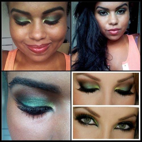 Make verde inspirada na maquiadora @luferraes <3 Makeup Luferraes Verde