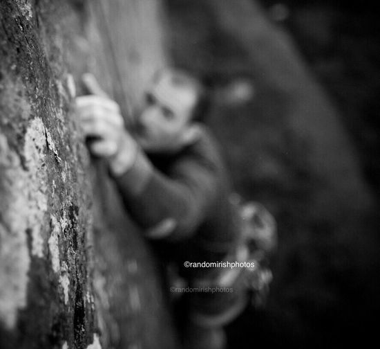 RePicture Challenge this guy climbs one of the toughest Dalkey quarry climbs on a regular basis. Randomirishphotos  Ireland