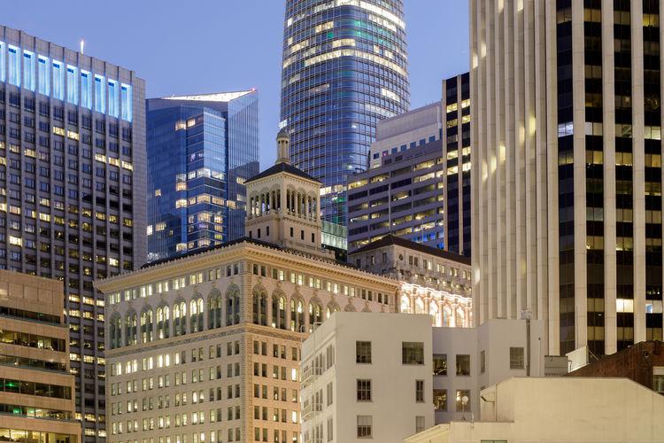 San francisco financial district twilight