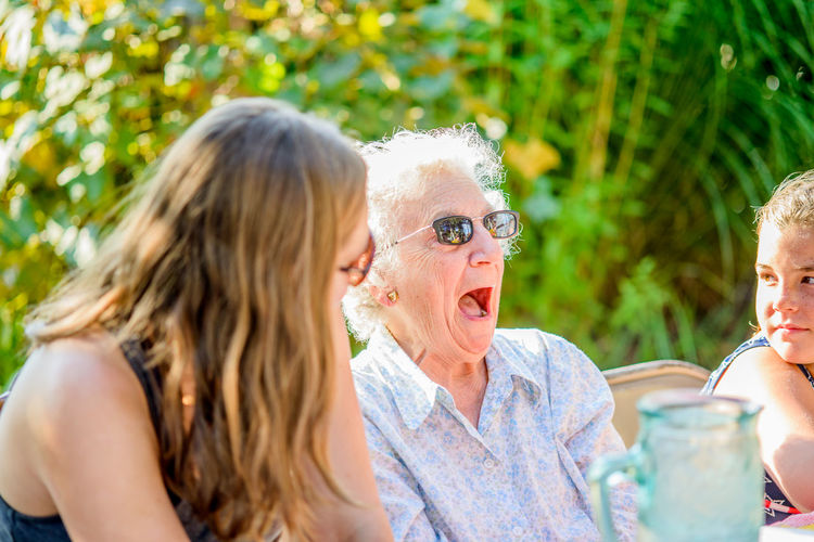 you don't say! Fun Mature Adult Outdoors Party - Social Event Senior Adult Senior Women Smiling Togetherness