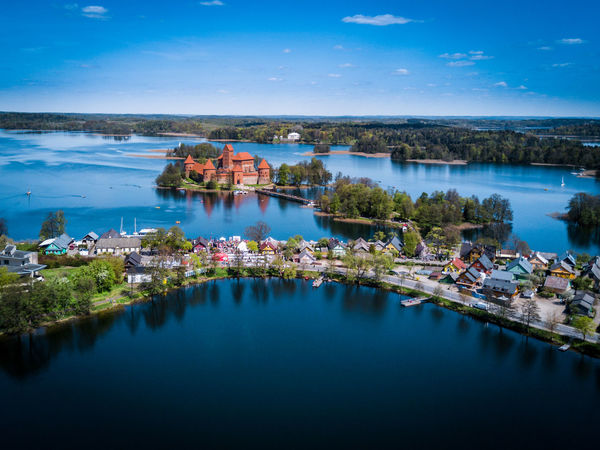 Trakai castle in Lithuania - tourist attraction in Lithuania Architecture Attraction Beauty In Nature Built Structure DJI Mavic Pro Drone  High Angle View History Lake Lithuania Mavicpro Medieval Nautical Vessel Old Reflection Scenics Sightseeing Tourism Trakai Trakai Castle Trakai Island Castle Tranquil Scene Tranquility Village Water Neighborhood Map The Week On EyeEm
