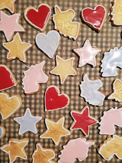 Cookie Cookies Cookie Cutter Baking Baking Cookies Biscuits Pastry Dough Cookie Dough Christmas Cookies Christmas Christmas Baking Baked Sweet Food Star Shape Large Group Of Objects Heart Shape Unicorn Variation High Angle View Backgrounds Icing Royal Icing Decoration Food And Drink