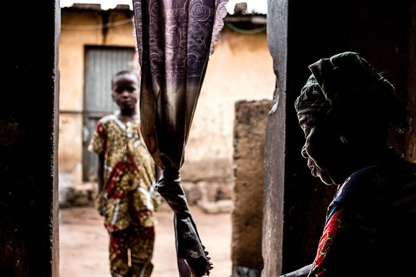 Meeting with a voodoo adept explaining his cult | Parakou, North, Benin. Adept Africa Benin Cult Culture Documentary Photography Meeting People Photojournalism Portrait Real People The Photojournalist - 2017 EyeEm Awards Tradition Voodoo