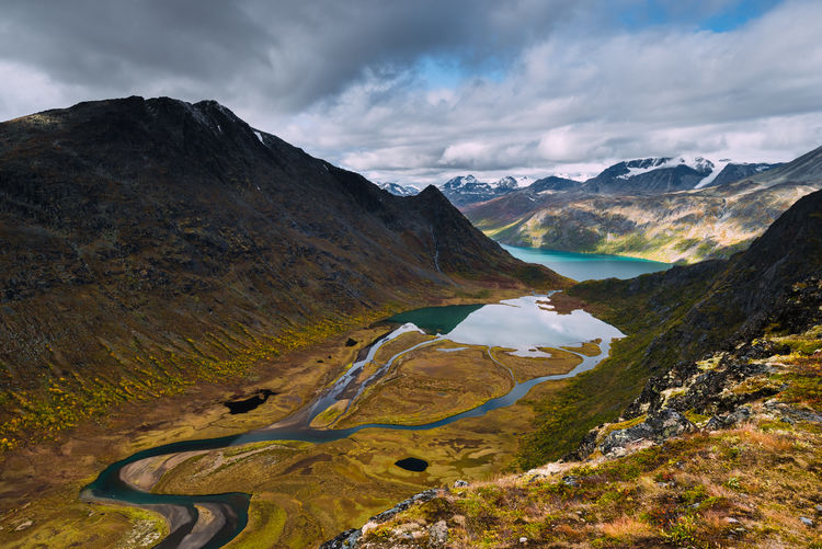 View of my dreams Scenics - Nature Mountain Beauty In Nature Cloud - Sky Sky Tranquility Tranquil Scene Environment Mountain Range Landscape Non-urban Scene Nature No People Water Day Idyllic Land Outdoors Autumn Mountain Peak Norway Lake Fjordsofnorway Fjord Hiking