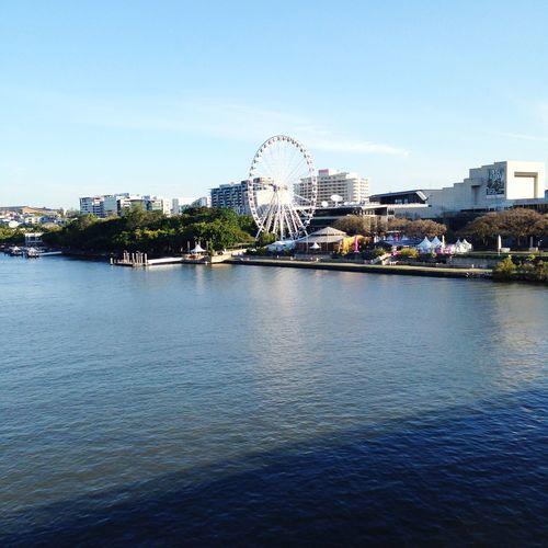 Brisbane Brisbane River Brisbane City At Wheel Of Brisbane Australia Queensland