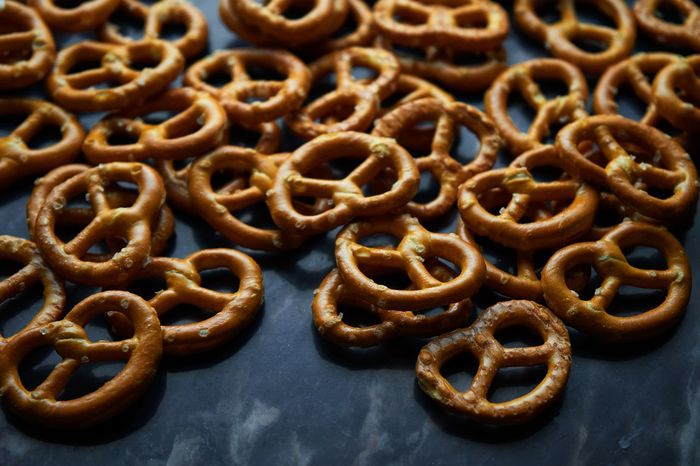 Salted Snack Baked Brezel Brown Close-up Day Food Food And Drink Freshness Indoors  Large Group Of Objects Marble Floors No People Pretzel Ready-to-eat Sweet Food Twist