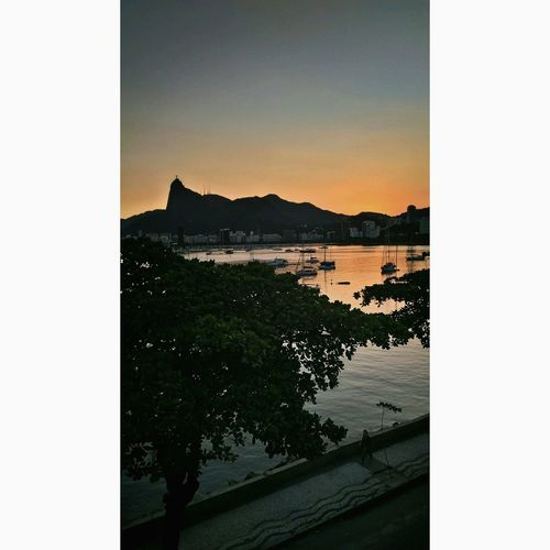 Sunset Sea Outdoors Nature Rio De Janeiro Rio Brasil ♥ Sunset Beach Water Sky Mountain No People Day Horizon Over Water First Eyeem Photo