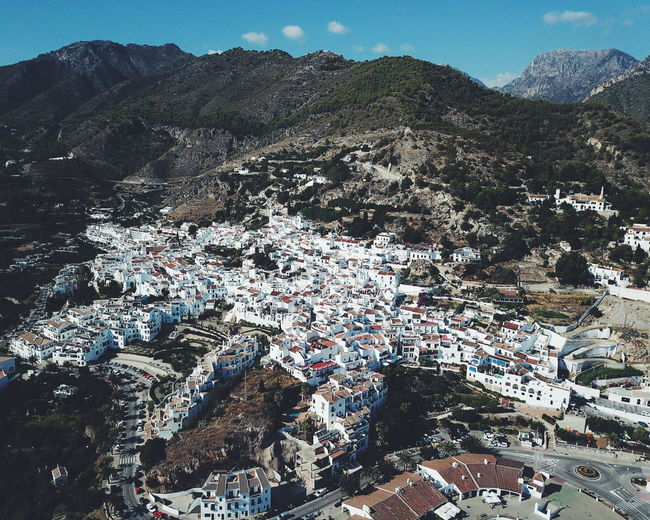 Mountain Day Outdoors No People Mountain Range Full FrameBackgrounds Landscape Nature Sky Close-up Drone  Dronephotography White Village