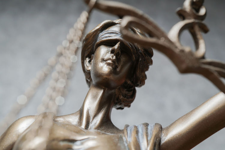 Sculpture Statue Human Representation No People Close-up Low Angle View Selective Focus Female Likeness Justice Lady Justice Law Legal Jurisprudence Blind Blindfold Macro Justitia Business Jurisdiction Judicial