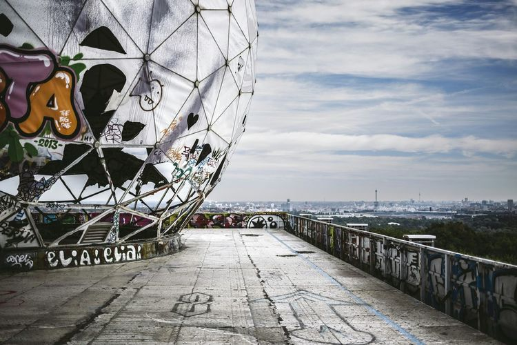 From my archive 2013. The old radar listening station Teufelsberg area from the Cold War. The owner has let now terminate area completely and now wants to build there. Historical Building Coldwar Interception Radar Station Berlin Grunewald Teufelsberg Dome Abandoned Places Urban Exploration Capture Berlin
