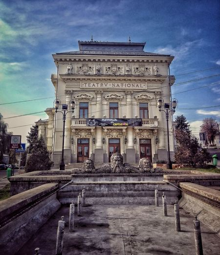 Architecture Sky Day Apus Toamnă🍁 Autumn🍁🍁🍁 City Olt Caracal Teatrul Național - Caracal Theater Theater Photography Walk City Walk Listen Techno Chill Built Structure Building Exterior Abandoned Outdoors No People