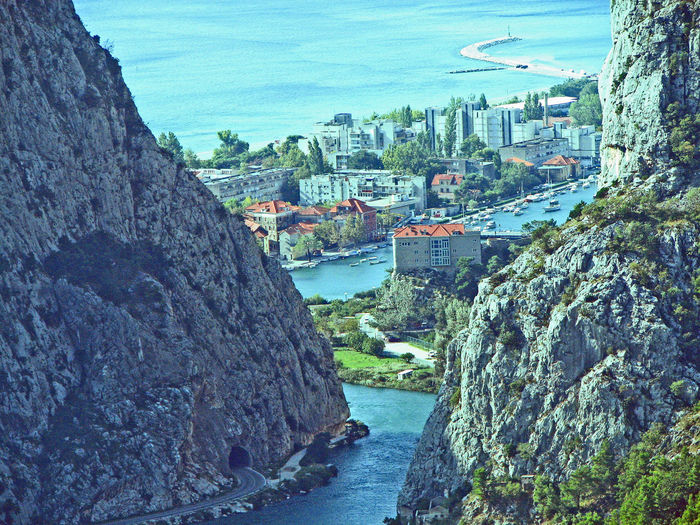 Architecture River Water Nature City Sky Day Town Outdoors Cityscape Mountain No People Building Exterior Built Structure A Taste Of Croatia Mountain View Of Town Omis, Croatia An Eye For Travel