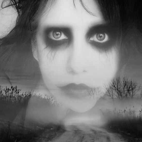 Looking At Camera Facial Expression Computer Art Edited My Way Edit By Me Scary Vampire Girl Blackandwhite Atmospheric Mood