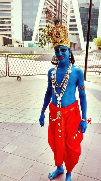Lord Krishna  Hindu Mythlology Roleplay Colors DivinePower Picturing Individuality India