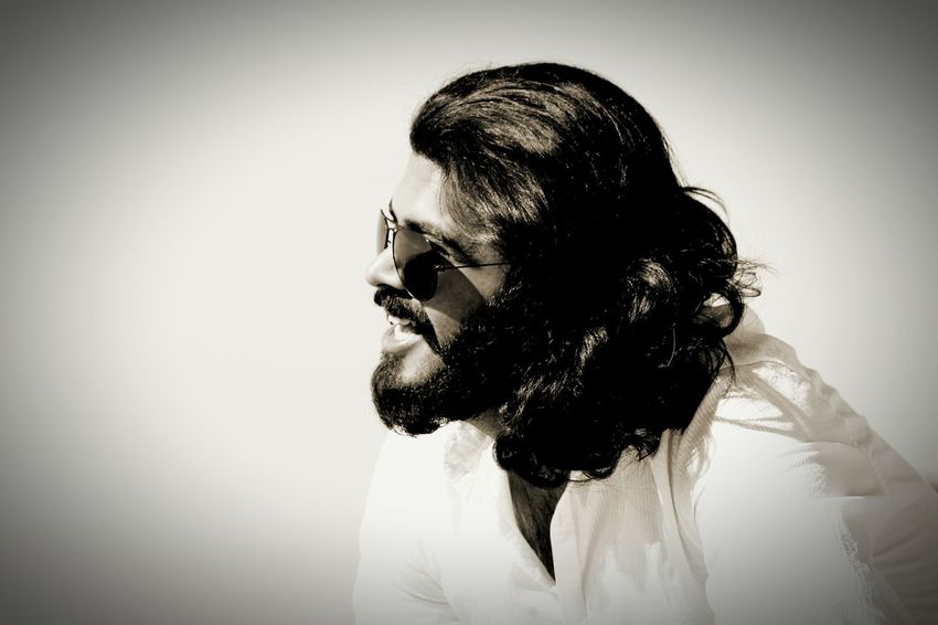 Beardlife EyeEm Selects One Person Adults Only One Man Only Only Men Mid Adult Black Hair Headshot People Outdoors Close-up Day Young Adult Sky Sepia Ebony And Ivory Black And White Friday