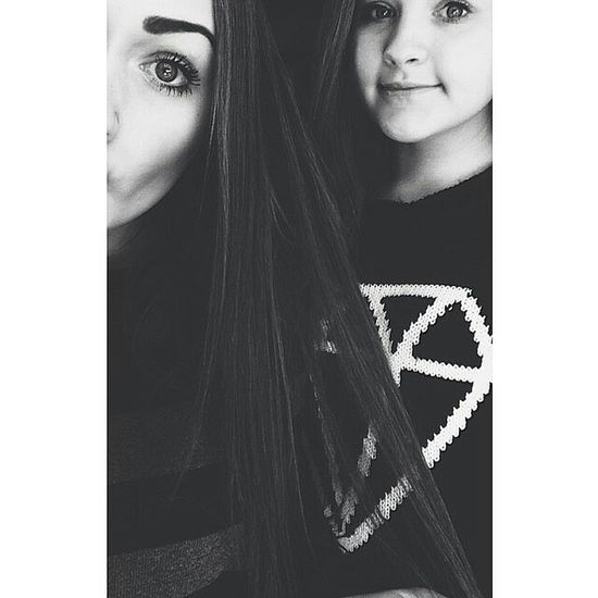 Love my beautiful sister ?? Check This Out Me And My Sister Love Newpicture That's Me Girly Blackandwhite Tumblr