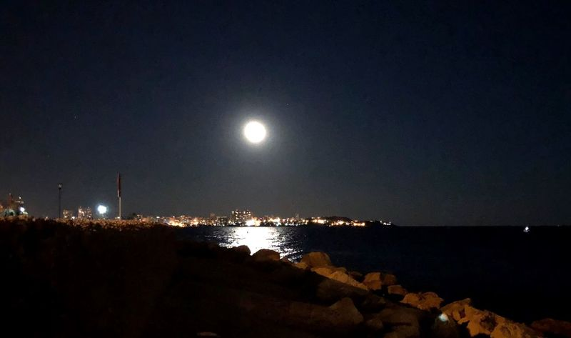 Full Moon 🌕 Beauty In Nature Photo Collection Moon Night Mediterranean Coast EyeEm Selects Nautical Port Alicante