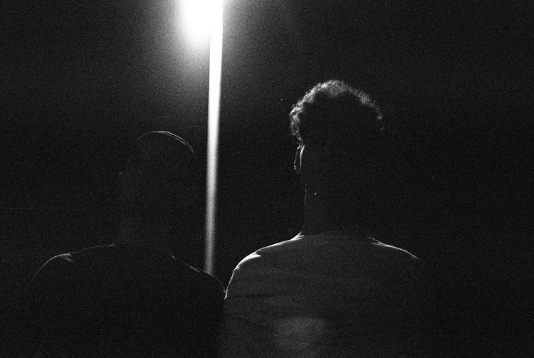 -Josh and Tom- Silhouette Olympus OM-1 Olympus Analog Real People People Night High Angle View Lifestyles Shadow Nature