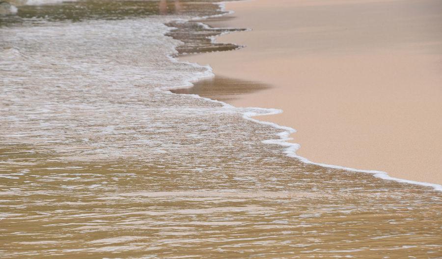 Sea surf edge over pastel beige sand Beige Edge Foam LINE Pastel Pastel Colors Pastel Power Pastels Sand Sea Seashore Seaside Surf Thailand Water Waves Spotted In Thailand