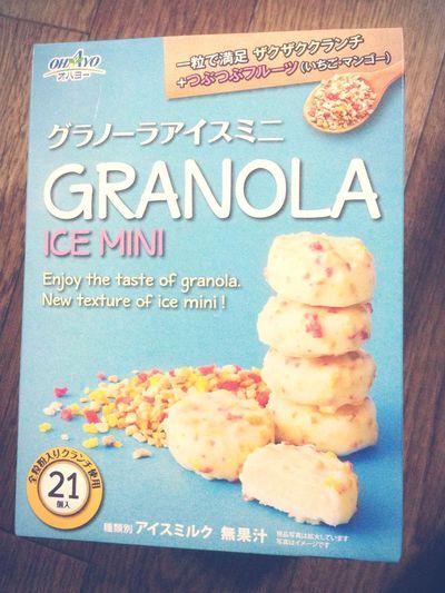 グラノーラ アイス グラノーラ使っているから健康的かと思えば無果汁ってどんだけー