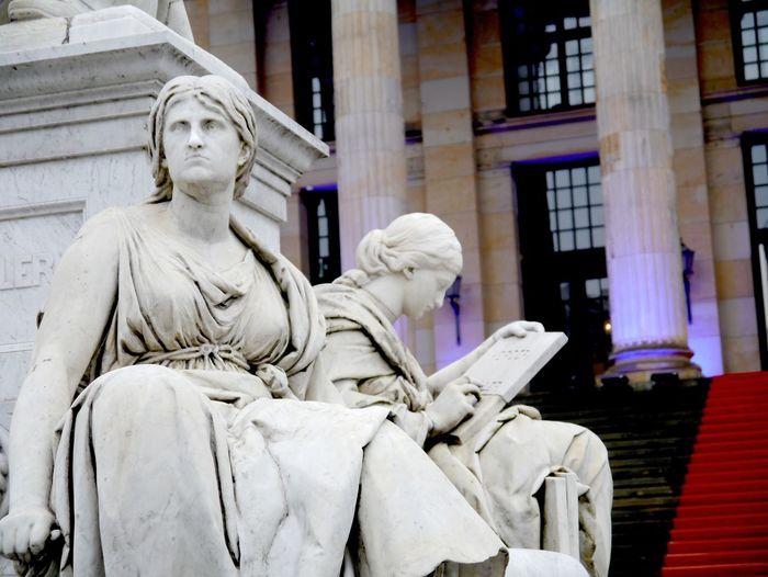Statues Outside Konzerthaus Berlin In City