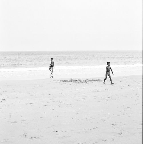 Lagos, Portugal Lagos Portugal Film Photography Beach Land Real People Sea Two People Day Water Childhood People Playing Outdoors Leisure Activity