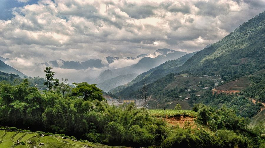 Vietnam sapa Mountain Plant Scenics - Nature Beauty In Nature Tree Growth Tranquility Tranquil Scene Sky Cloud - Sky Environment Mountain Range Nature Landscape Green Color No People Land Idyllic Non-urban Scene Day