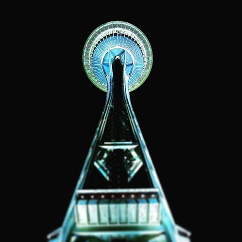 Another from last nights adventure :) Seattle PNW Spaceneedle IWasInThat HellaHigh AndWithAsomeDork 😊